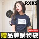 ToGetheR+專館上市【XT0015】RXXS 方塊閃電字母精梳棉短袖上衣(三色)