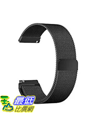 [美國直購] Oitom 黑色 S 5.5吋-6.7吋 不鏽鋼錶帶 Samsung Gear S3 Classic/Gear S3 Frontier Stainless Steel Watch Band