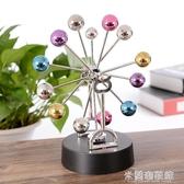 創意擺件 創意摩天輪彩球磁力永動儀搖擺器永動儀模型辦公桌面擺件情侶禮物 米蘭潮鞋館