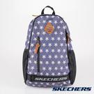 [陽光樂活] SKECHERS 雙拉鍊 透氣網布 耐用 牛仔 藍色  後背包 運動背包  - S37309