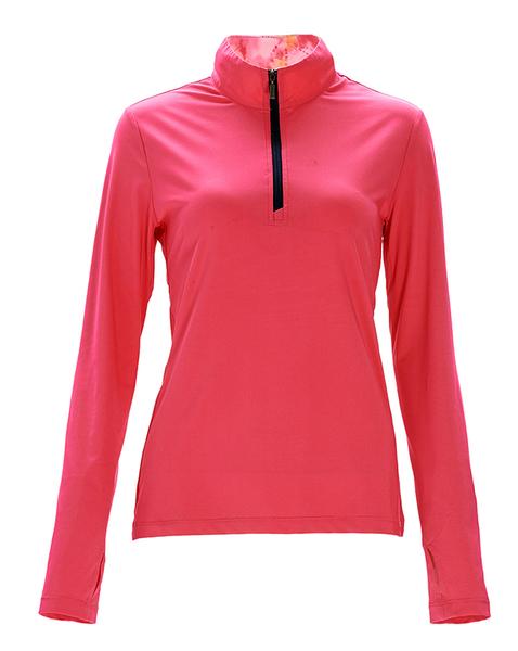 荒野 WILDLAND 女款彈性針織輕薄上衣 0A71619 蜜桃紅 運動上衣 排汗衣 涼感吸排快乾 OUTDOOR NICE