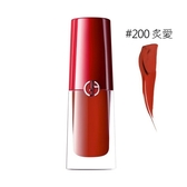 GIORGIO ARMANI 奢華訂製柔霧唇露#200炙愛 3.9ml 全新復古磚紅系列《小婷子》