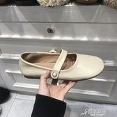 娃娃鞋 大頭娃娃鞋女可愛圓頭晚晚仙女風溫柔單鞋平底珍珠一字扣瑪麗珍鞋 原本良品