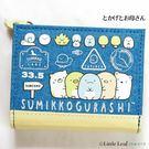 角落生物 短夾 錢包 皮夾 單寧藍 Sumikko Gurash 日本正版 該該貝比日本精品 ☆