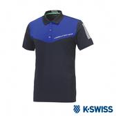 K-SWISS PF Polo韓版運動Polo衫-男-藍