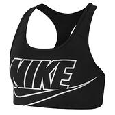 NIKE SWOOSH FUTURA 女裝 運動內衣 慢跑 訓練 中度支撐 透氣 黑【運動世界】BV3644-010
