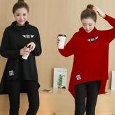 韓版春款新款高領衛衣孕婦裝 莫妮卡小屋