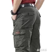 吉普盾夏季多口袋工裝褲男士戶外純棉休閒褲薄款直筒大碼寬鬆褲子 極簡雜貨