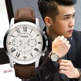 FOSSIL GRANT 古典設計簡約腕錶 FS4735 熱賣中!