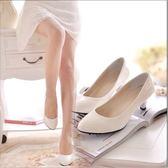 跟鞋 百搭單鞋女職業黑白色工作鞋漆皮鞋