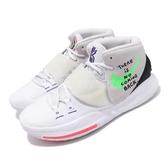 Nike 籃球鞋 Kyrie 6 EP 白 綠 男鞋 夜光設計 Irving 6代 KI6 運動鞋【PUMP306】 BQ4631-005