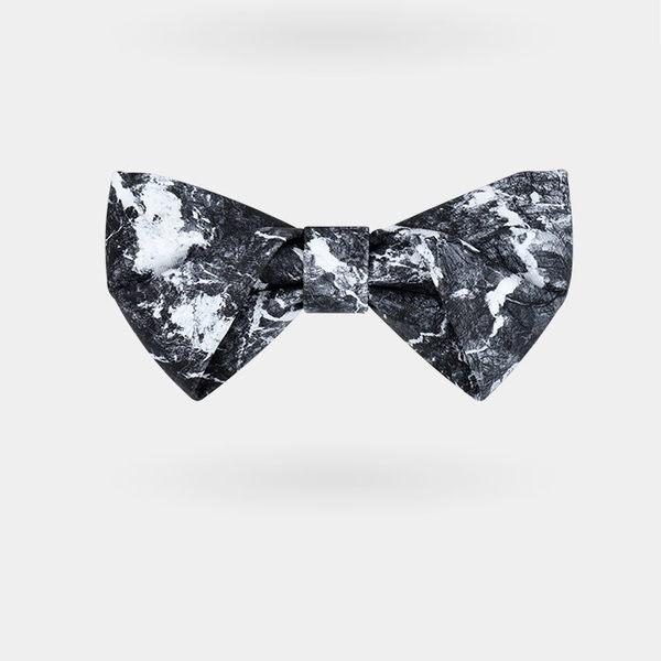 《7color camera》訂製款 黑色大理石 原創 輕奢 設計 造型 領結 結婚 新郎 伴郎 紳士 領帶 蝴蝶結