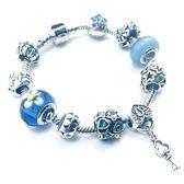 潘朵拉元素串珠手鍊925純銀-琉璃飾品鑰匙吊墜生日情人節禮物女配件73bo37【時尚巴黎】