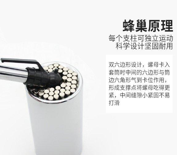 台灣出貨 五星賣家 萬用魔術套筒板手 修繕神器 多功能板手 萬能套筒 螺絲起子 棘輪套筒
