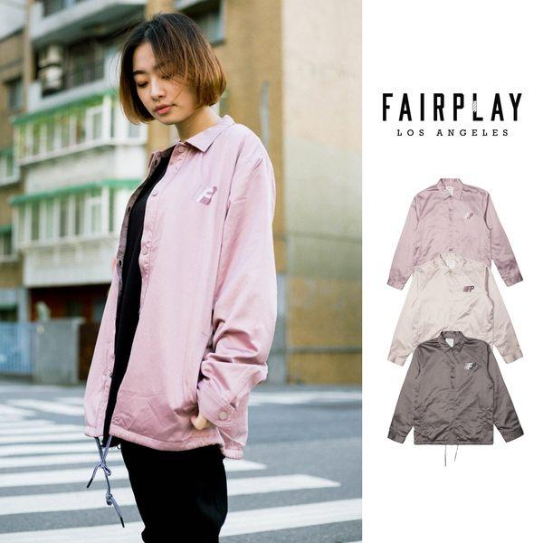 【GT】FairPlay Brawley 粉灰卡其 外套 夾克 防風 休閒 復古 寬鬆 鋪棉 美牌 教練外套 教練夾克