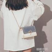 包包女2020新款潮今年流行超火錬條小方包小巧百搭斜挎手機包斜背包