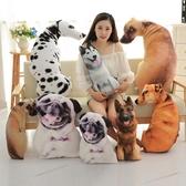 創意個性3D仿真狗狗抱枕毛絨玩具哈士奇玩偶布娃娃生肖狗年吉祥物Mandyc