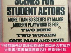 二手書博民逛書店Contemporary罕見Scenes For Student Actors:More than 80 scen