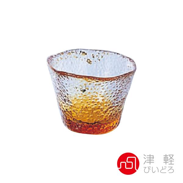 日本津輕 手作琉璃清酒杯50ml-黃 品酒必備 小酌 清酒杯 手作玻璃杯 好友聚會 好生活