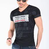 短袖男T恤 潮流上衣 韓版休閒 夏季短袖印花T恤 時尚都市修身衫wx3448