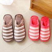 棉拖鞋女新款冬季厚底保暖月子毛毛拖鞋家居室內防滑加絨情侶  印象家品旗艦店