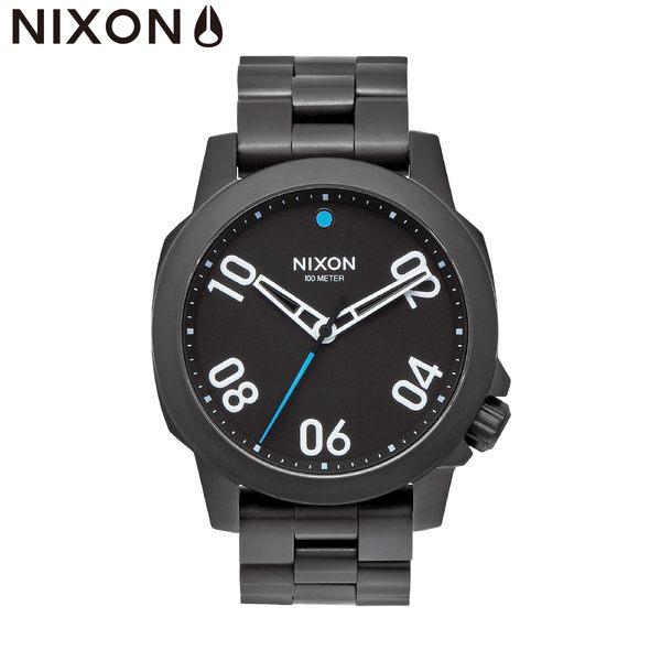 NIXON手錶 原廠總代理 A468-001 SMS Ranger 40 SS 潮流時尚鋼錶帶 生日 情人節禮物