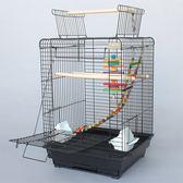 歐式鐵藝 放開式實用型鳥籠 大號鸚鵡籠 和尚小太陽籠 包郵 1901 放開式鳥籠 打開頂變站架 做工優