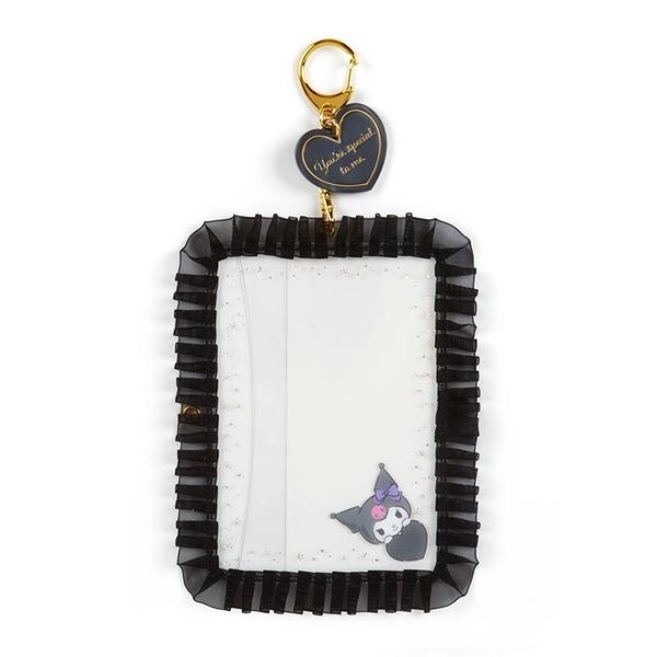 小禮堂 酷洛米 蕾絲邊框相框鑰匙圈 透明相框 相框吊飾 相片架 (黑 演唱會粉絲收納)