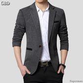 小西裝外套 - 正韓男士新款休閒西服外套 修身韓版大碼上衣禮服【快速出貨好康八折】