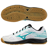 MIZUNO SKY BLASTER 2 男鞋 女鞋 羽球 手球 橡膠 耐磨 止滑 白綠黑【運動世界】71GA204534