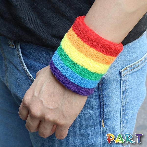 【PAR.T】彩虹文創小物/造型飾品/手部配件 - 運動護腕