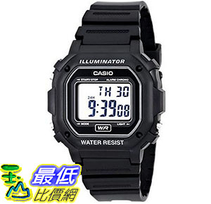 [美國直購] 手錶 Casio Mens F108WH Illuminator Collection Black Resin Strap Digital Watch