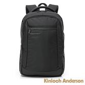 金安德森 菁英姿態 極簡造型大容量前袋拉鍊後背包 黑色