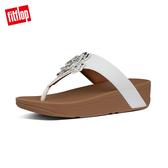 SS20新品  【FitFlop】LOTTIE CORSAGE TOE-THONGS 水鑽花朵裝飾夾腳涼鞋-女(都會白)