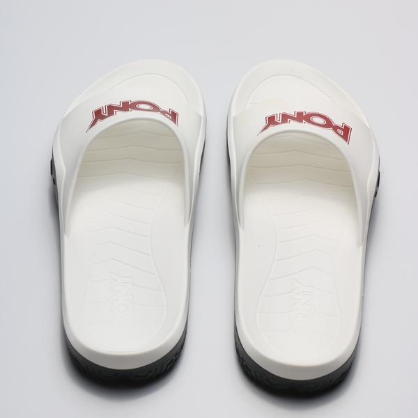 PONY 白 黑 紅LOGO 防水 膠拖 拖鞋 男女 (布魯克林) 2019/05月 92U1FL07RD