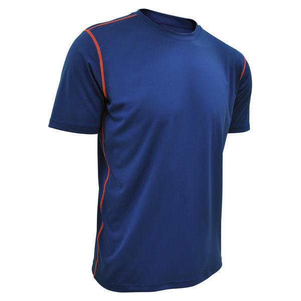 吸濕排汗衣 運動短袖T恤 極致輕量 NCAA(寶藍色)