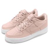 Nike 休閒鞋 Air Force 1 SS GS 粉紅 白 皮革鞋面 女鞋 大童鞋 運動鞋【PUMP306】 AV3216-600