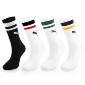 PUMA 女Fashion條紋長襪 (一雙入 高筒襪 襪子 足球 籃球 慢跑 免運 ≡排汗專家≡