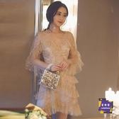 小禮服 18歲成年禮女生小禮服超仙年會晚禮服生日聚會約會網紗亮片仙女裙