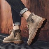 馬丁靴男士工裝靴英倫風冬季棉鞋中筒男靴秋季高筒男鞋子潮鞋短靴 滿天星