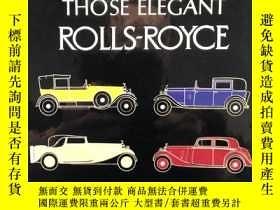 二手書博民逛書店那些優雅罕見Rolls-Royce   Those elegan
