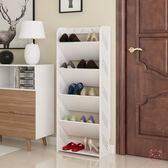 鞋櫃簡易鞋架家用多層鞋櫃客廳簡約歐式雕花防塵經濟型宿舍組裝置物架XW(1件免運)