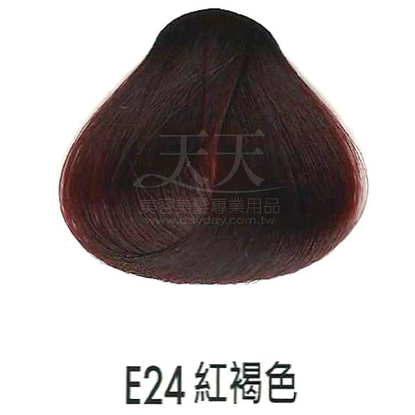 【專業推薦】耐婷 亮彩染髮劑 E24-紅褐色 60g [73045]