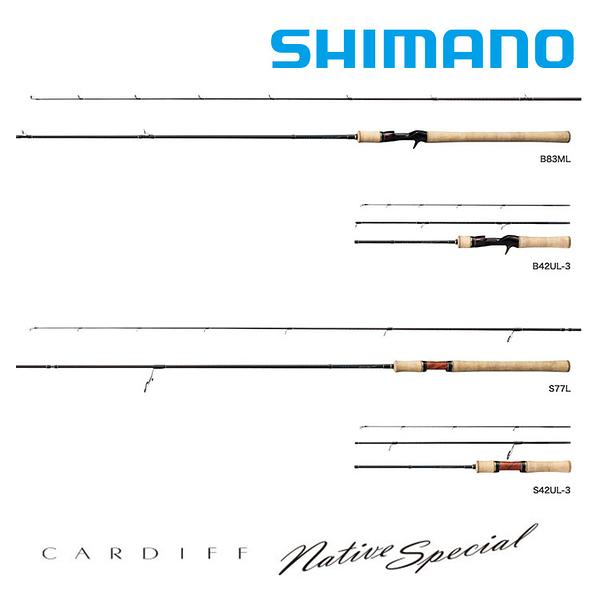 漁拓釣具 SHIMANO CARDIFF NATIVE SPECIAL S60UL [淡水路亞竿]