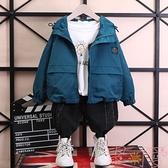 男童外套春秋裝夾克中大童韓版上衣【聚可愛】