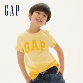 Gap男童 Logo漸層短袖T恤 539655-哈瓦那黃