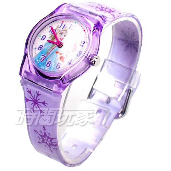 Disney 迪士尼 日本機芯 冰雪奇緣 艾莎公主 女王 安娜公主 兒童手錶 橡膠 女錶 紫色 FZ-2302紫小