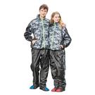 【東門城】天龍牌 迷彩運動風兩件式雨衣 (黑灰) 收納式雨帽