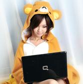 【Sexy cat】可愛小熊造型披肩 夏日必備懶人毯/袖毯/冷氣毯/宅人披肩