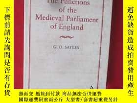 二手書博民逛書店The罕見Functions of the Medieval P